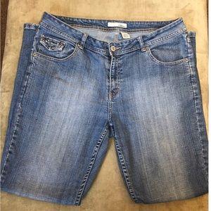 CHICO'S Stone Wash Platinum Studded Jeans sz 1.5